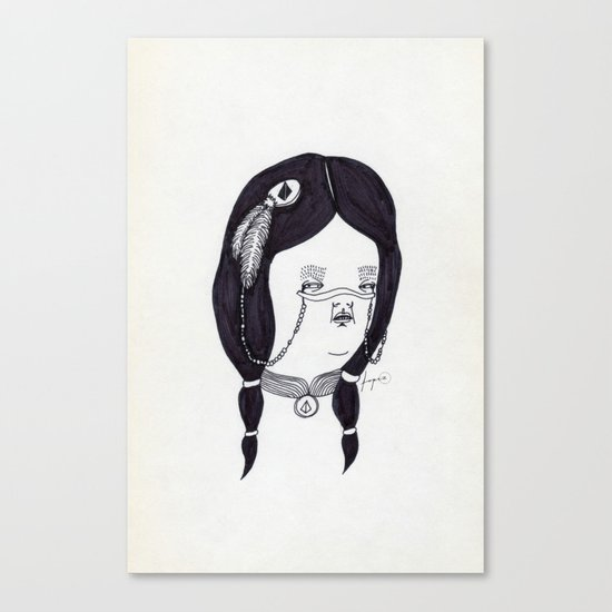 Apache Wife Canvas Print