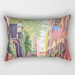 Historic Acorn Street, Beacon Hill Rectangular Pillow