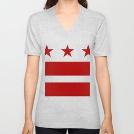 Washington DC District Of Columbia Flag Unisex V-Neck