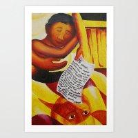 Mi Amor Art Print