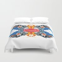 kaleidoscope Duvet Covers featuring kaleidoscope by Raphaël