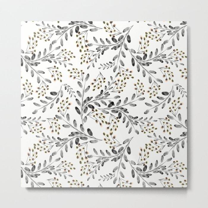 Delicate floral pattern. 1 Metal Print