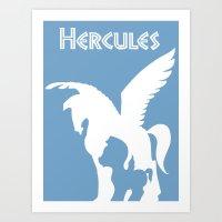 hercules Art Prints featuring Hercules by Citron Vert