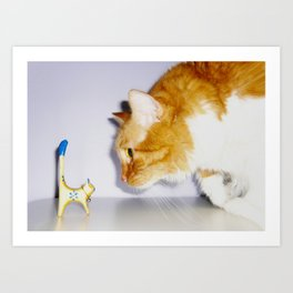 Who's the Big Cat Now? Art Print