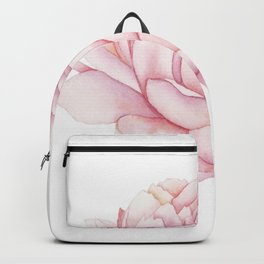 Pink Peony Watercolor Backpack