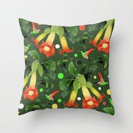 Colibri&Brugmansia Throw Pillow