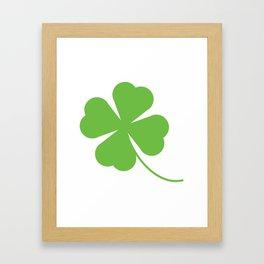 Lucky Shamrock Clover Leaves Framed Art Print