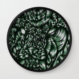 Chinese Jade Lion Wall Clock