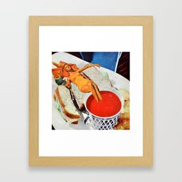 Food Coma Framed Art Print