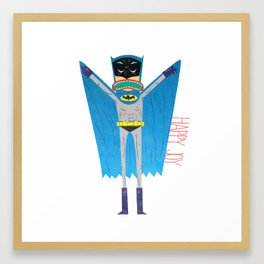 The Bat Mang! Framed Art Print