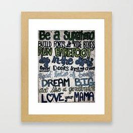 Love Your Mama Framed Art Print