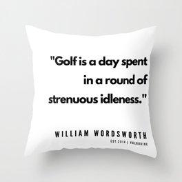 34     | Golf Quotes | 190606 Throw Pillow
