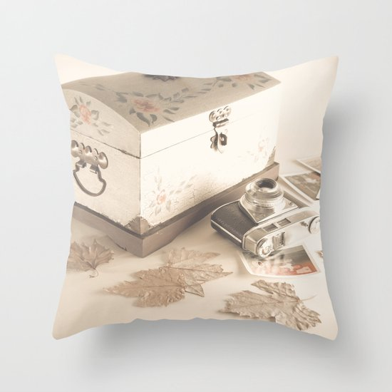 Remembers (vintage still life photography) Throw Pillow