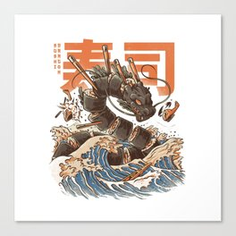 Great Sushi Dragon Canvas Print