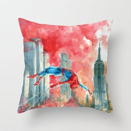 Dawn in NY Throw Pillow
