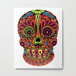 Calavera - Sugar Skull - Calexico Metal Print
