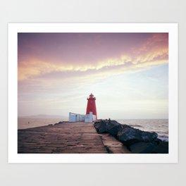 (RR300) Poolbeg lighthouse in Dublin - Ireland Art Print