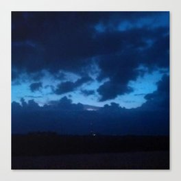 Dusk has the blues Canvas Print