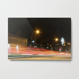 Great Northern Way East Van cross traffic blur Metal Print