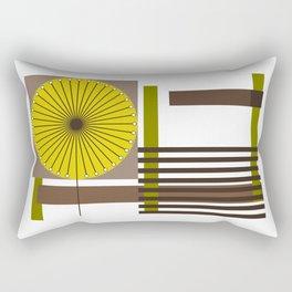 Flower Modern Geometric Design Rectangular Pillow
