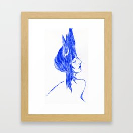 Blue Woman Framed Art Print