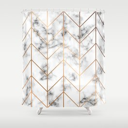 Marble Geometry 057 Shower Curtain