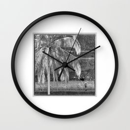 Indonesia, Farmer in the Rice Fields Wall Clock