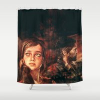 road Shower Curtains featuring The Road Less Traveled by Alice X. Zhang