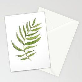 Green Marigold Leaf handpainted with watercolor now available in digital prints Stationery Cards