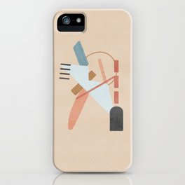 Dance of shapes - abstract composition iPhone Case