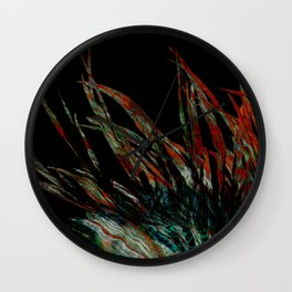 Ancient feathers Wall Clock