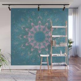 Navajo Turquoise Gemstone Mandala No. 40 Wall Mural