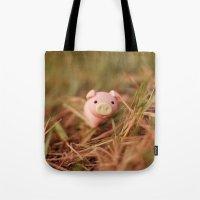 pig Tote Bags featuring Pig by Natália Viana ♥
