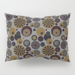 Circle Frenzy - Grey Pillow Sham