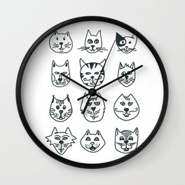 Cats - Who let the dog in? Wall Clock
