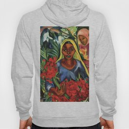 African American portrait painting 'The Flower Market' by E. Stern Hoody