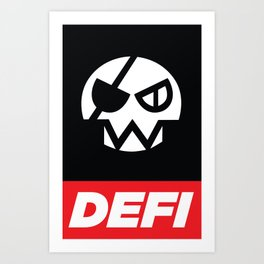 DEFI SKULL Art Print