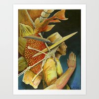 Fish out of water. Art Print