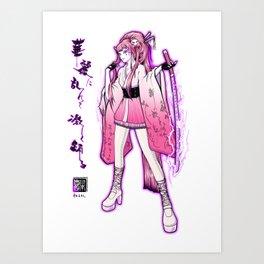 Kaminari-no-Hana Art Print