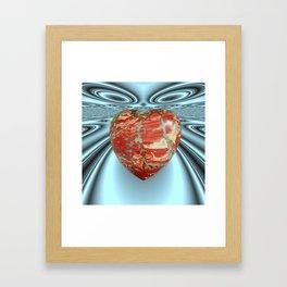 RED JASPER Heart in Universe Framed Art Print