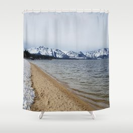 Snow and Sand Shower Curtain