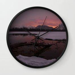 Vermillion Sunrise Two Wall Clock