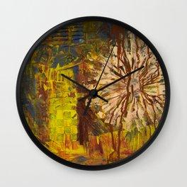 Autumn Flower Distress Wall Clock