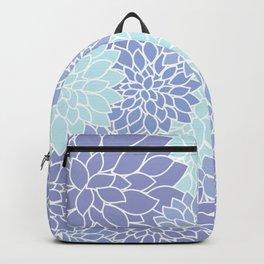 Ice Blue Dahlias Backpack