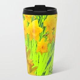 YELLOW SPRING DAFFODILS GARDEN Travel Mug