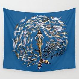 Mermaid in Monaco Wall Tapestry
