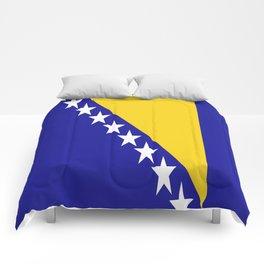 Flag of Bosnia – Bosnian,Bosniak,herzegovinian,bosna,Sarajevo,Balkan,yugoslavia. Comforters