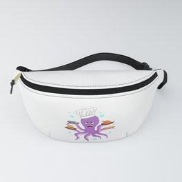 funny octopus declicious pizza burger chicken fish Fanny Pack