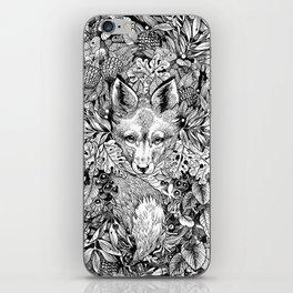 hidden fox iPhone Skin
