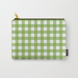 Retro Green Plaid Carry-All Pouch